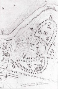 Plan of Geelong Botanic Gardens 1864